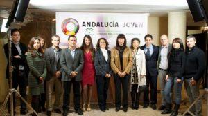 Foto de familia de los ganadores de la edición de 2010
