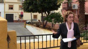 Hornillo visitó ayer la plaza para comprobar el estado en el que se encontraba