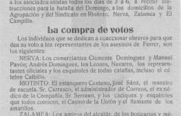Uno de los periódicos que se distribuían a los mineros de Riotinto. /SA