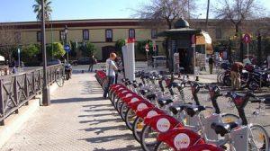 El servicio público de alquiler Sevici empezó a funcionar en Sevilla en julio de 2007/Foto de archivo