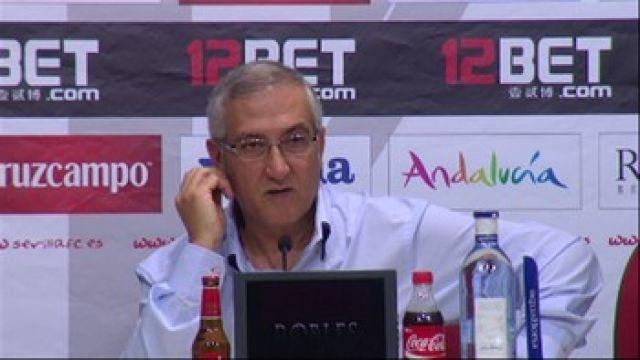 Gregotio Manzano, entrenador del Sevilla FC