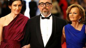 González Sinde, De la Iglesia y Salgado ayer a su llegada al Teatro Real