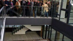 Una imagen de la visita de esta mañana all nuevo edificio/SA