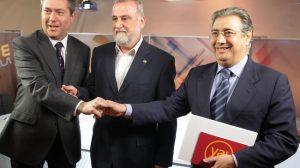 Espadas, Torrijos y Zoido antes del debate/PP