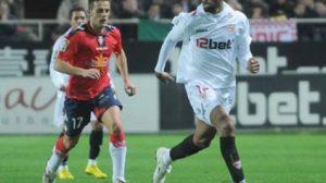 Kanouté durante un partido del Sevilla