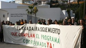 Tanto la plataforma cívica 'Salvemos el Guadaíra' como el PA consideraron este acto como una