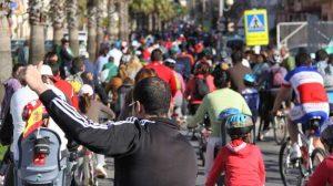 Cerca de 4.000 marcheneros han celebrado, pedaleando, el Día de Andalucía