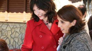 Pilar González con Lola Aquino hoy en Alcalá de Guadaíra/PA
