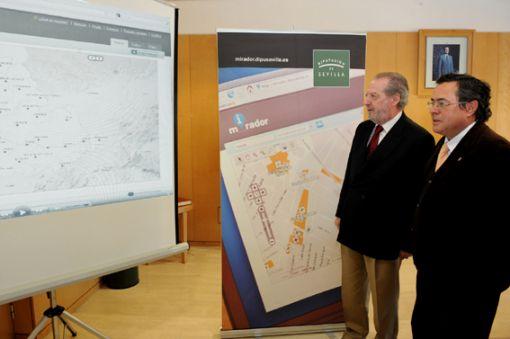 La Web dará toda la información sobre infraestructuras, servicios y equipamientos de los municipios/Diputación.