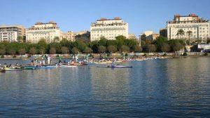 Campeonato nacional de piragüismo celebrado en Sevilla/SA