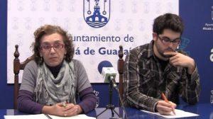 Carmen Hornillo junto a presidente de Nuevas Generaciones de Alcalá, en una imagen de archivo
