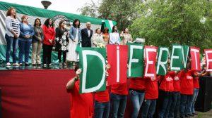 Pilar González junto a algunas de las candidatas del PA en las ocho provincias de Andalucía