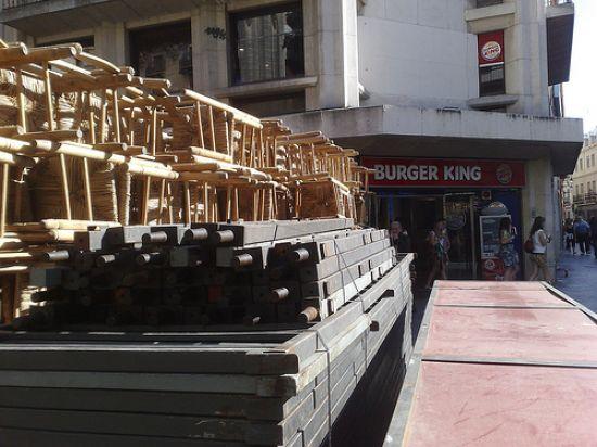 En estos días, ya ha comenzado el montaje de las sillas en la Carrera Oficial/Foto de archivo, Rubén Díaz en Flickr