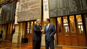 Goñi y Pulido en la Bolsa de Madrid