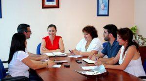 Margarita Gutiérrez reunida ayer con su nuevo equipo de gobierno