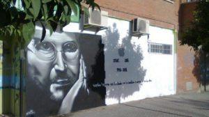 El grafitti ha sido realizado por el grafitero sevillano 'Samu'./Movilico