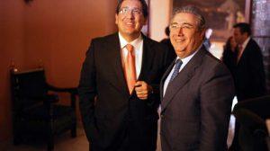 Antonio Pulido y Juan Ignacio Zoido esta mañana en el Ayuntamiento