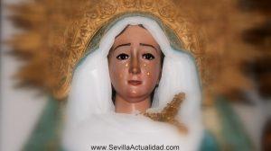 La imagen de la Virgen de la Paz de Castilblanco antes del proceso de restauración / Fotografía: Juan Carlos Romero