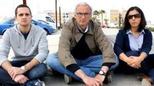 Los andalucistas han protagonizado una sentada en las vías del tranvía/SA