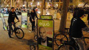 Las bicis electorales han iniciado su recorrido en la Alameda/SA