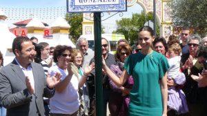La modelo Eva González ha inaugurado esta mañana una avenida con su nombre/SA