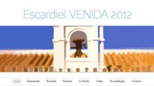 La Hermandad de Escardiel presentó este sábado la web de la Venida de la Virgen 2012 coincidiendo con el primer acto para recaudar fondos