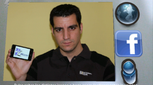 Alberto Gandullo utilizando su aplicación./ Alberto Gandullo