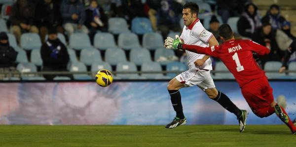 Los delanteros sevillistas no tuvieron su día. / Sevilla FC