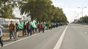 Según la Plataforma, aproximadamente unas 200 personas se sumaron a la marcha./ Plataforma 'Salvemos el Guadaíra'