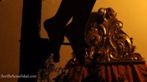La imagen del Crucificado de los Vaqueros de Escardiel permanece en la Parroquia del Divino Salvador de Castilblanco hasta el primero de mayo / Juan Carlos Romero