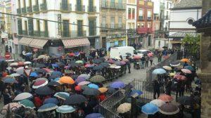 Las malas previsiones, confirmadas posteriormente, dejaron en negro un Martes Santo más en Sevilla/ @pedromblanco