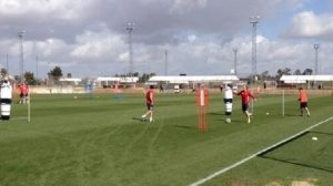 Botía y Cala podrían ser los centrales del decisivo choque ante Osasuna. / SEVILLA F.C.
