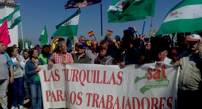 El diputado por IU y alcalde de Marinaleda participó en las protestas./Sevilla Actualidad