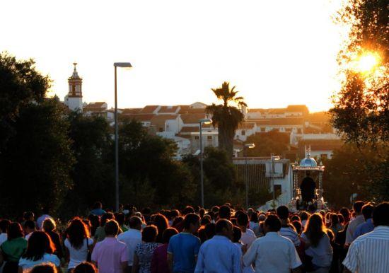 La imagen de San Benito Abad será trasladada en la tarde del sábado a la Parroquia de Castilblanco / Juan Carlos Romero