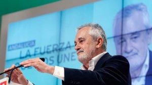 José Antonio Griñán hoy en su intervención en el Congreso del PSOE-A en Granada/PSOE-A