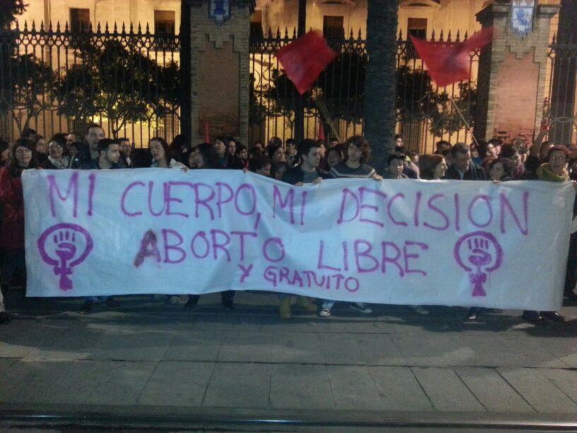 Manifestacion contra el aborto Igancio Tudela