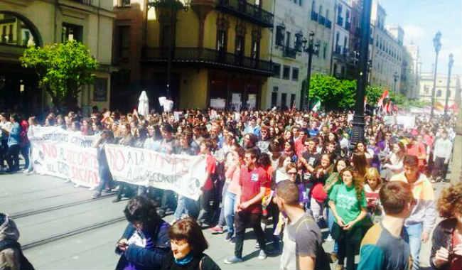 huelga estudiantes sevilla 27m