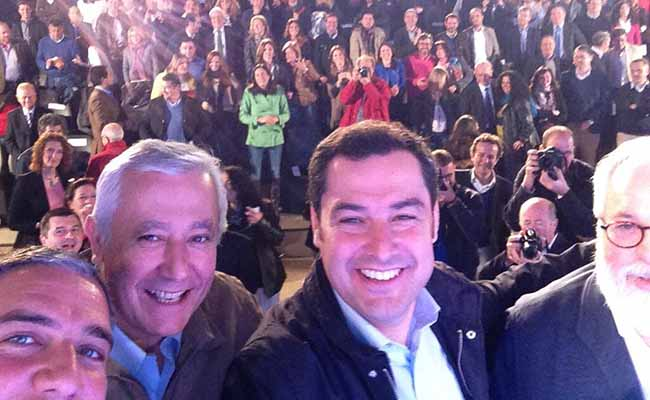 selfie-moreno-bendodo-arenas-canete-29marzo