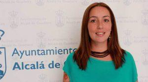 La concejal de Alcalá Puede, Jésica Garrote, hace unos meses en el Ayuntamiento de Alcalá