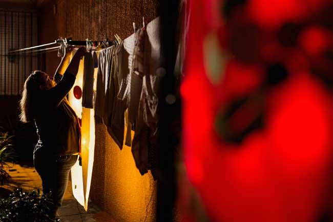 Almohadones iluminados en El Carmen