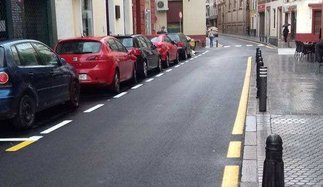 Imagen que presenta la calle Trajano tras su repavimentación