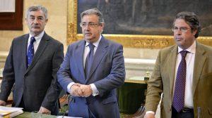 juan-ignacio-zoido-alcalde-demetrio-cabello-movilidad-gregorio-serrano-fiestas-mayores-dispositivo-feria-2013