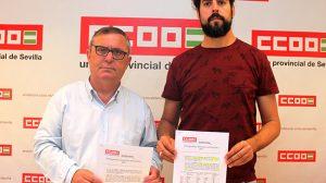 Foto CCOO Vidan y Aristu con el informe sobre la deuda historica650