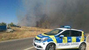 policia torreblanca incendio