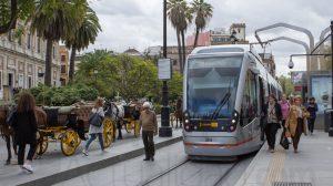Tranvía en la Avenida de la Constitución