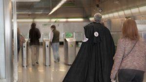 Usuarios del metro en Semana Santa