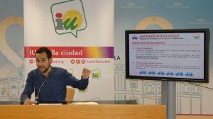 González Rojas (IU) en rueda de prensa/ SA