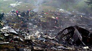 Estado en el que quedó el avión tras el accidente /Archivo
