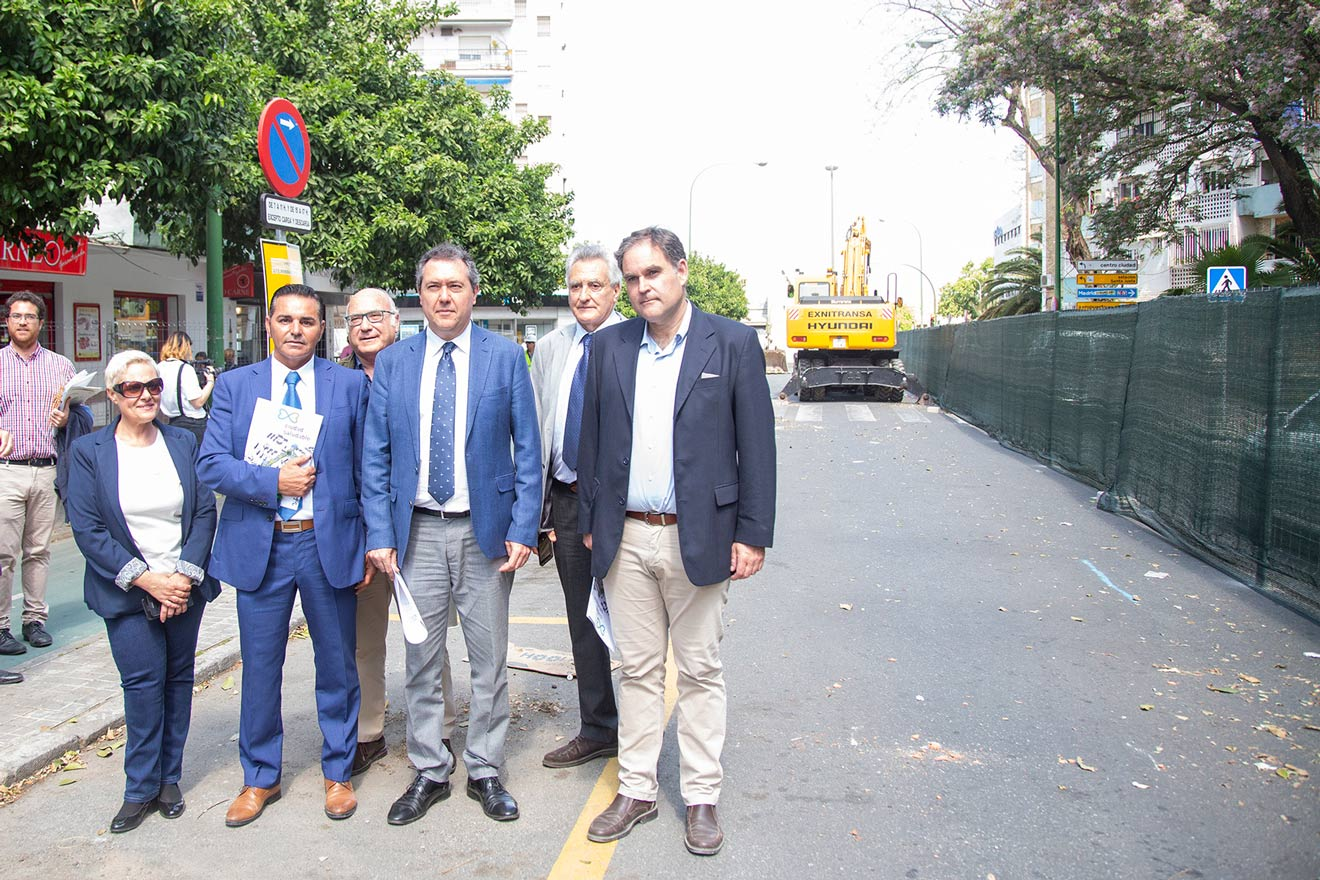 Obras en la Avenida de El Greco /Ayto. Sevilla