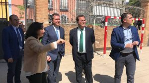 Espadas y Cabrera visitan el Ceip 'Altos Colegios Macarena' /Ayto. Sevilla